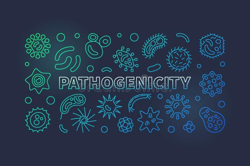 Ligne colorée bannière de pathogénicité Illustration d'agent pathogène de vecteur illustration libre de droits
