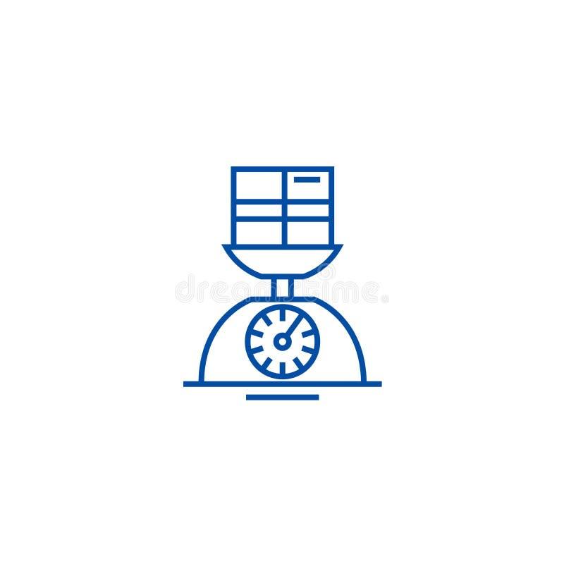 Ligne concept d'échelle de poids d'icône Symbole plat de vecteur d'échelle de poids, signe, illustration d'ensemble illustration stock