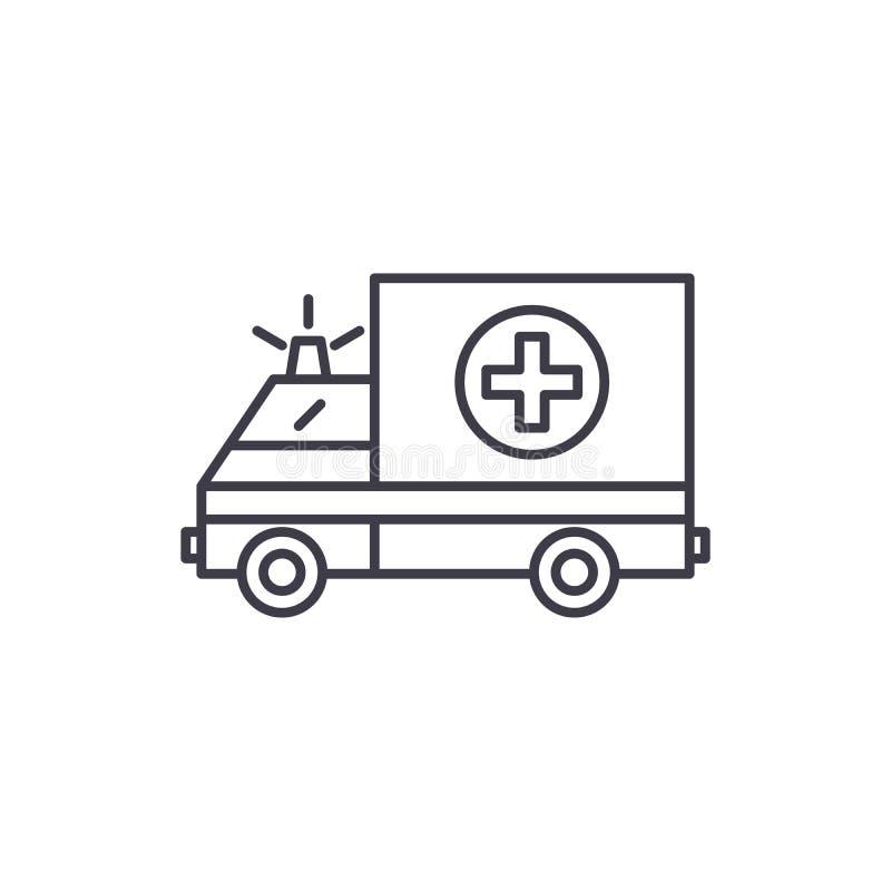 Ligne concept d'ambulance d'icône Illustration linéaire de vecteur d'ambulance, symbole, signe illustration de vecteur