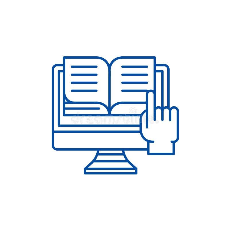 Ligne concept d'Ebooks d'icône Symbole plat de vecteur d'Ebooks, signe, illustration d'ensemble illustration de vecteur
