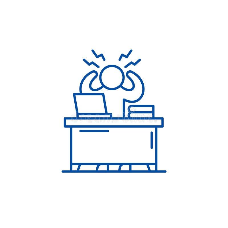 Ligne concept d'effort d'affaires d'icône Symbole plat de vecteur d'effort d'affaires, signe, illustration d'ensemble illustration stock