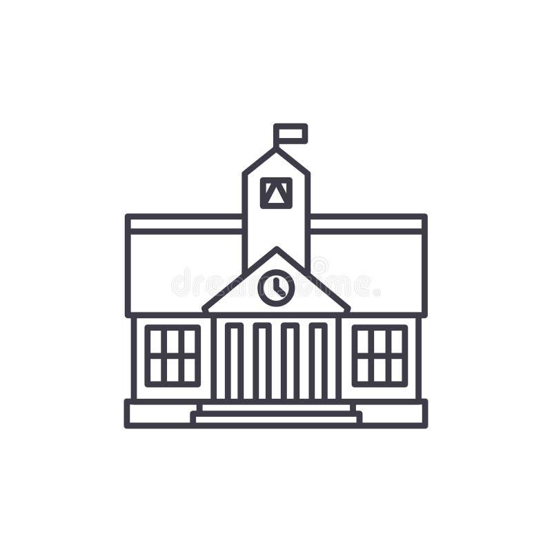 Ligne concept d'enseignement supérieur d'icône Illustration linéaire de vecteur d'enseignement supérieur, symbole, signe illustration de vecteur