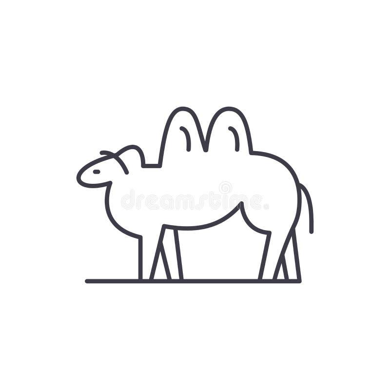 Ligne concept de chameau d'icône Illustration linéaire de vecteur de chameau, symbole, signe illustration libre de droits