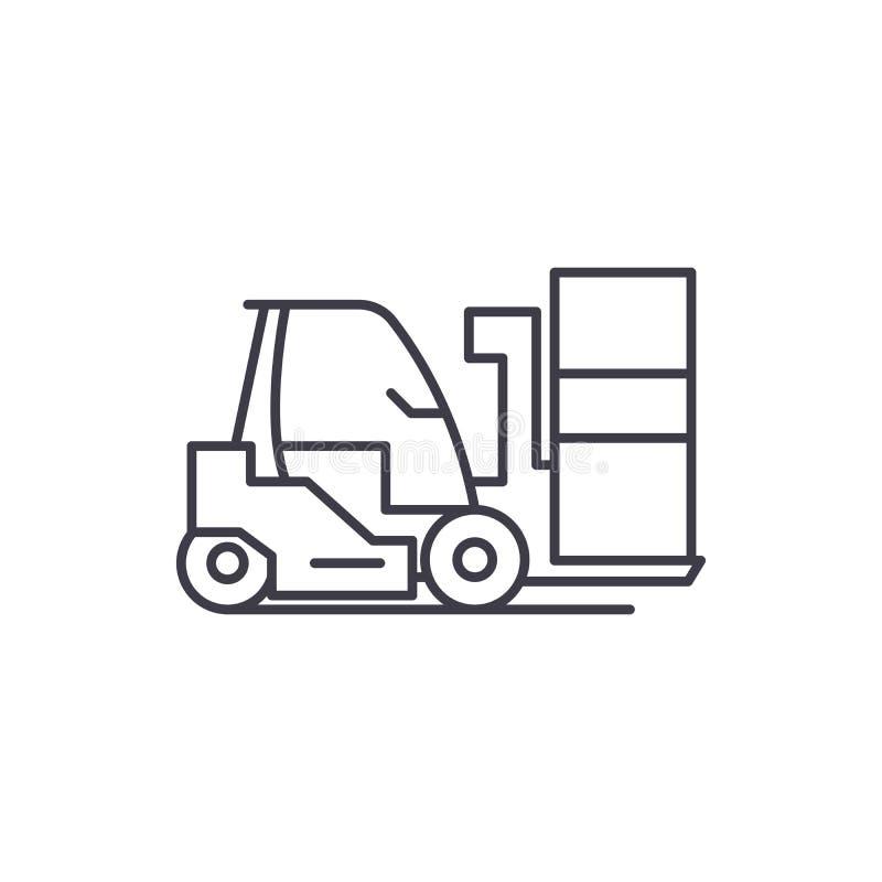 Ligne concept de chargeur d'icône Illustration linéaire de vecteur de chargeur, symbole, signe illustration de vecteur