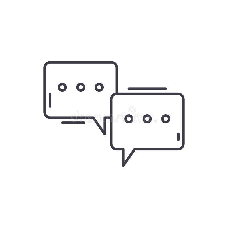 Ligne concept de colloque d'icône Illustration linéaire de vecteur de colloque, symbole, signe illustration stock