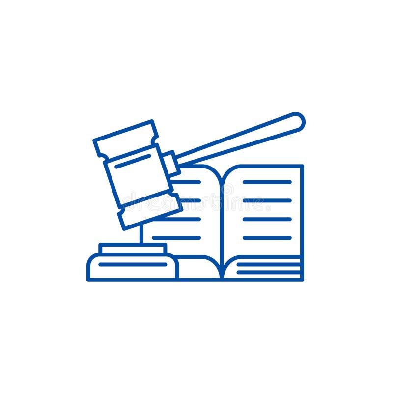 Ligne concept de décision d'icône Symbole plat de vecteur de décision, signe, illustration d'ensemble illustration stock