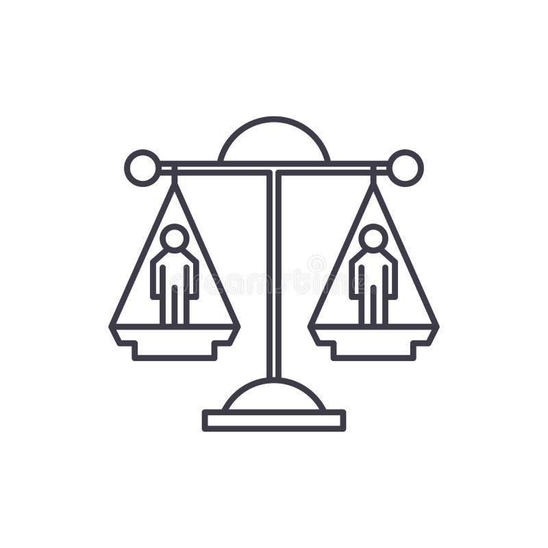 Ligne concept de décision juridique d'icône Illustration linéaire de vecteur de décision juridique, symbole, signe illustration libre de droits