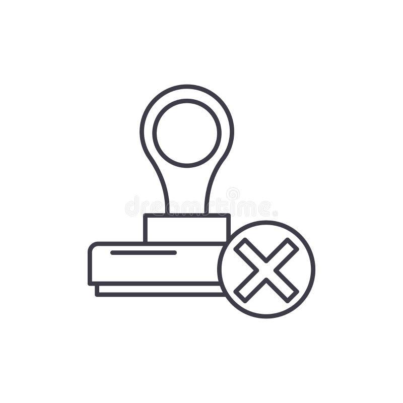Ligne concept de dénonciation d'icône Illustration linéaire de vecteur de dénonciation, symbole, signe illustration de vecteur