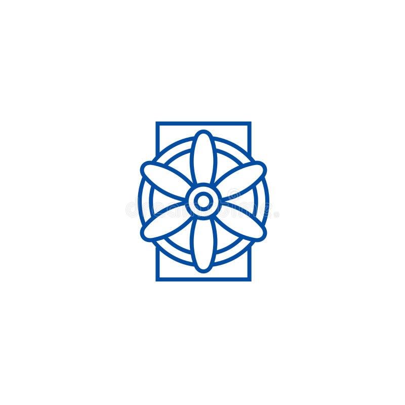 Ligne concept de générateur d'icône Symbole plat de vecteur de générateur, signe, illustration d'ensemble illustration libre de droits