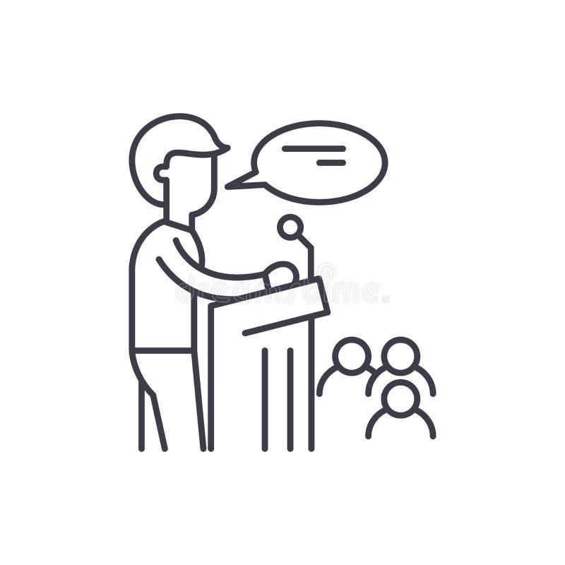 Ligne concept de haut-parleur d'icône Illustration linéaire de vecteur de haut-parleur, symbole, signe illustration de vecteur