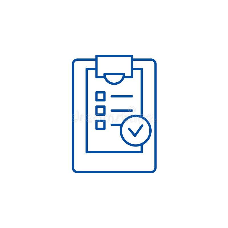 Ligne concept de liste de contrôle d'icône Symbole plat de vecteur de liste de contrôle, signe, illustration d'ensemble illustration de vecteur