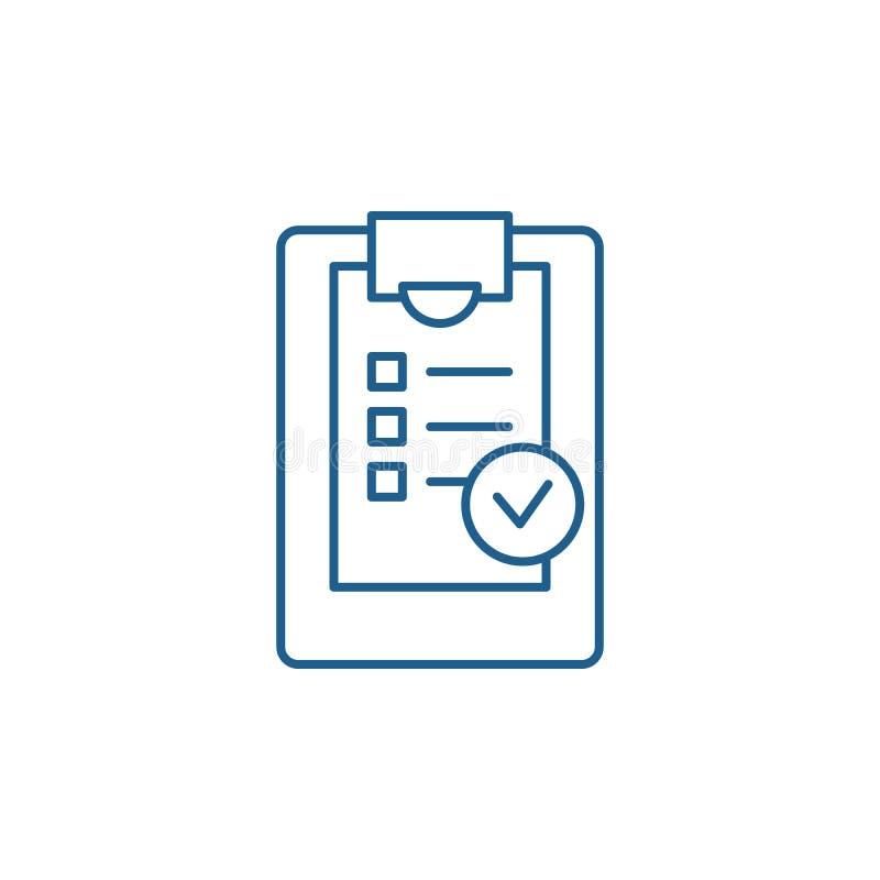 Ligne concept de liste de contrôle d'icône Symbole plat de vecteur de liste de contrôle, signe, illustration d'ensemble illustration libre de droits