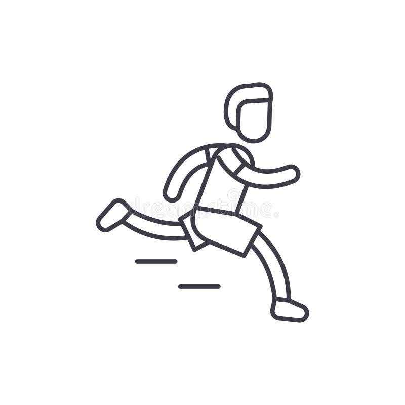 Ligne concept de marathon d'icône Illustration linéaire de vecteur de marathon, symbole, signe illustration stock