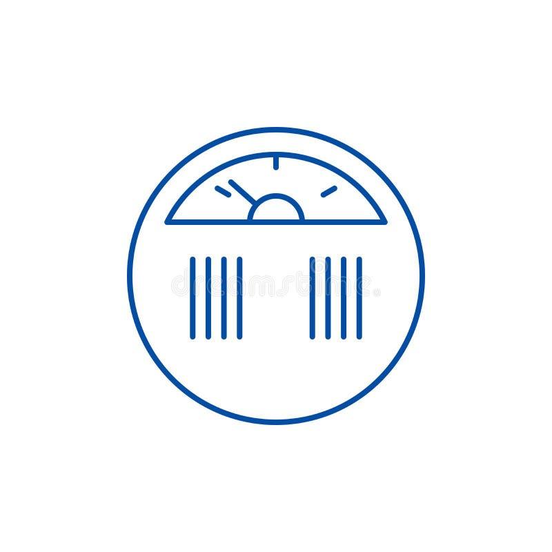 Ligne concept de mesure de poids d'icône Symbole plat de vecteur de mesure de poids, signe, illustration d'ensemble illustration de vecteur