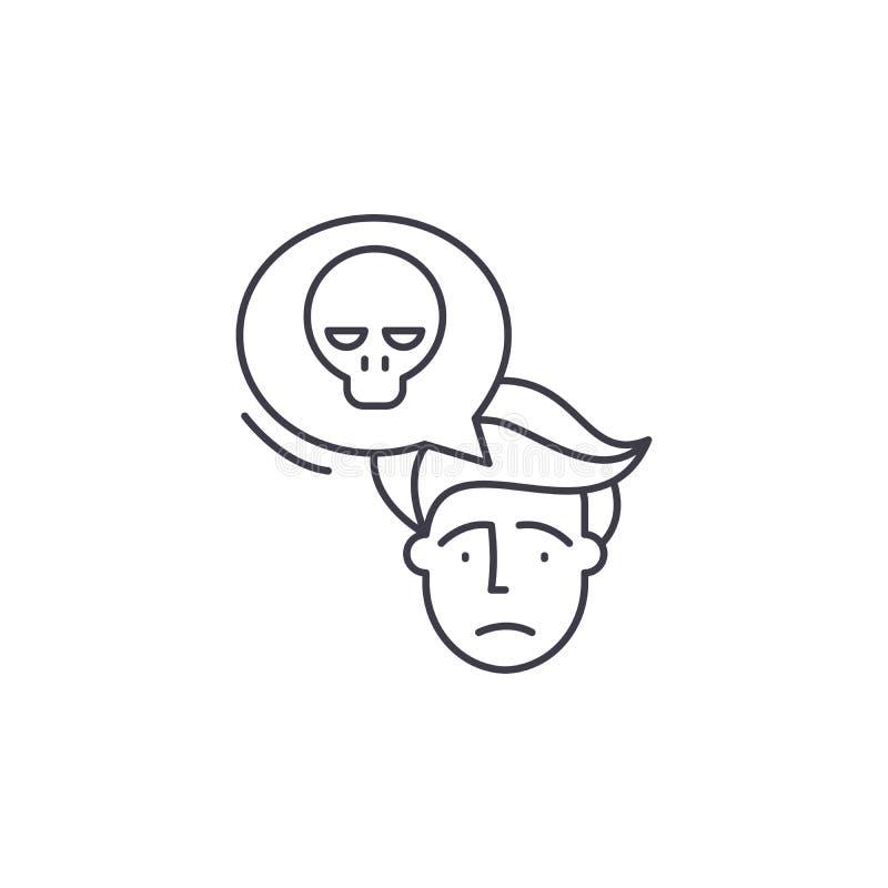 Ligne concept de panique d'icône Illustration linéaire de vecteur de panique, symbole, signe illustration libre de droits