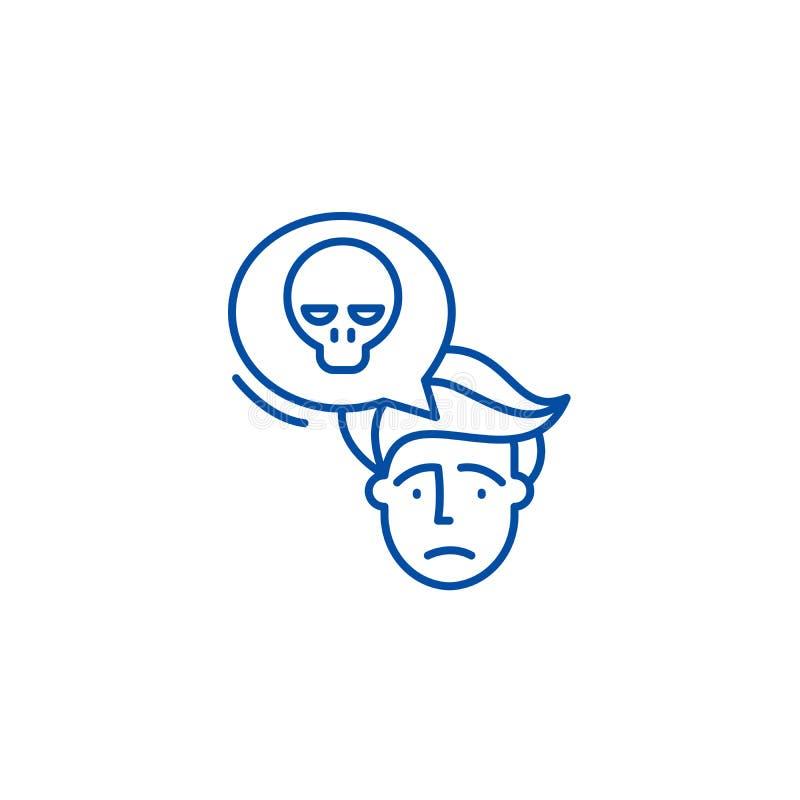 Ligne concept de panique d'icône Symbole plat de vecteur de panique, signe, illustration d'ensemble illustration libre de droits