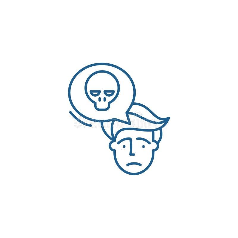Ligne concept de panique d'icône Symbole plat de vecteur de panique, signe, illustration d'ensemble illustration de vecteur