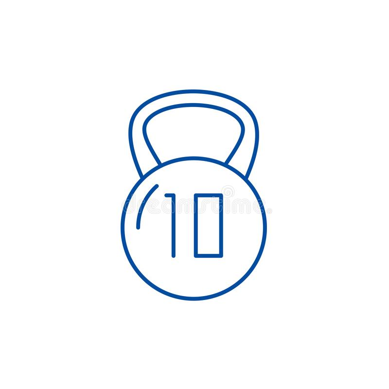 Ligne concept de poids d'icône Symbole plat de vecteur de poids, signe, illustration d'ensemble illustration stock