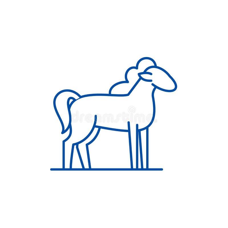 Ligne concept de poney d'icône Symbole plat de vecteur de poney, signe, illustration d'ensemble illustration libre de droits