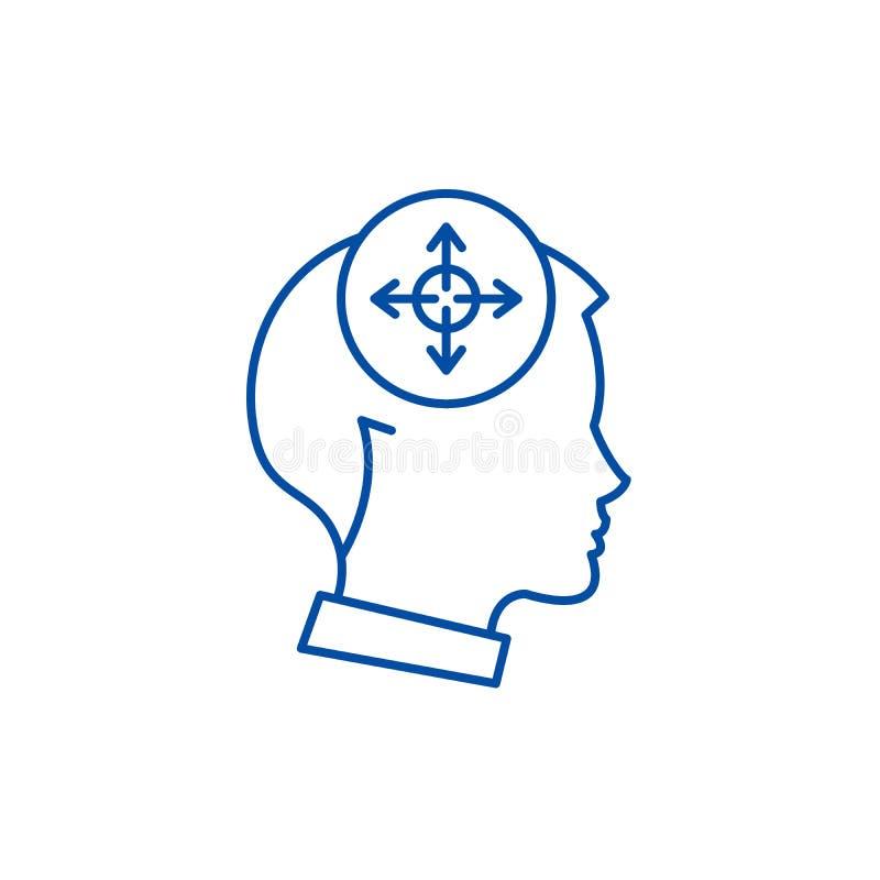 Ligne concept de prise de décision d'icône Symbole plat de vecteur de prise de décision, signe, illustration d'ensemble illustration de vecteur
