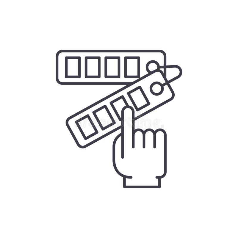 Ligne concept de sélection des couleurs d'icône Illustration linéaire de vecteur de sélection des couleurs, symbole, signe illustration stock
