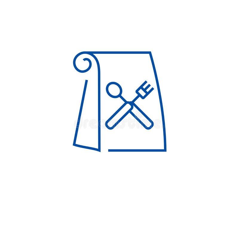 Ligne concept de sac de déjeuner d'icône Symbole plat de vecteur de sac de déjeuner, signe, illustration d'ensemble illustration de vecteur