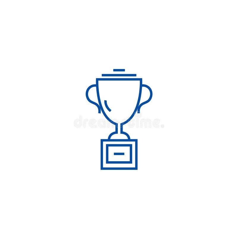 Ligne concept de tasse de trophée d'icône Symbole plat de vecteur de tasse de trophée, signe, illustration d'ensemble illustration libre de droits