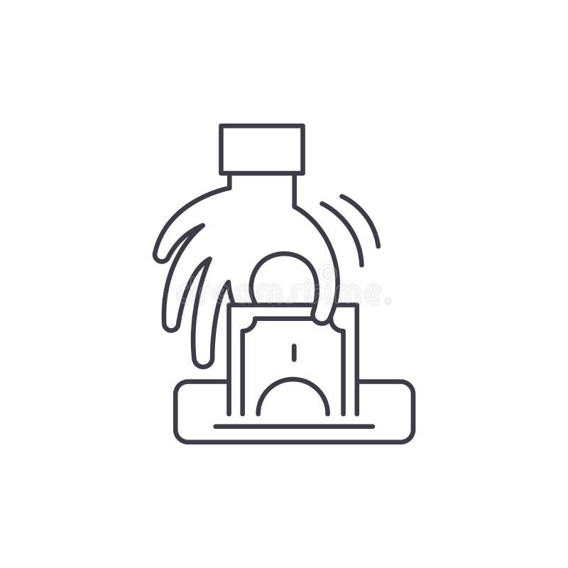 Ligne concept de vol d'icône Illustration linéaire de vecteur de vol, symbole, signe illustration libre de droits