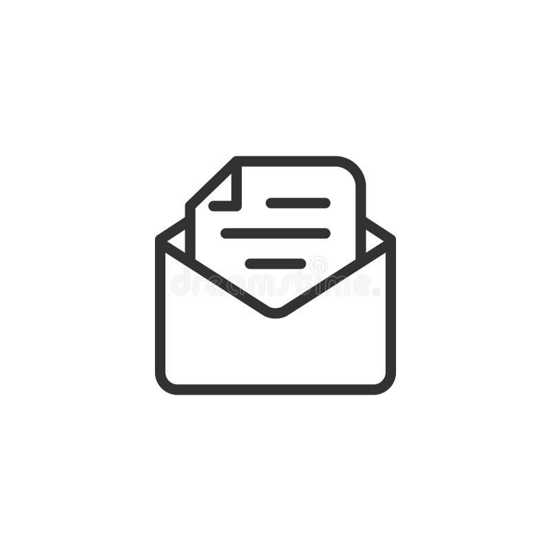 Ligne conception de bulletin d'information d'icône illustration de vecteur