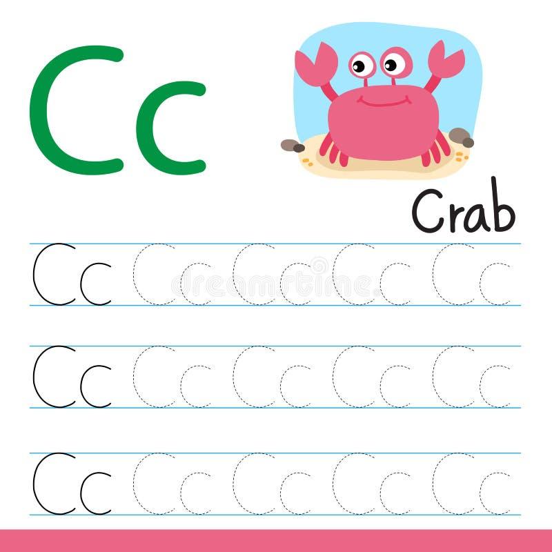 Ligne conception de dessin de crabe de vecteur illustration de vecteur