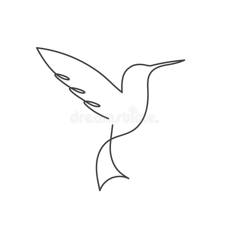 Line Drawings From D Models : Ligne continue dessin au trait blanc un d oiseau