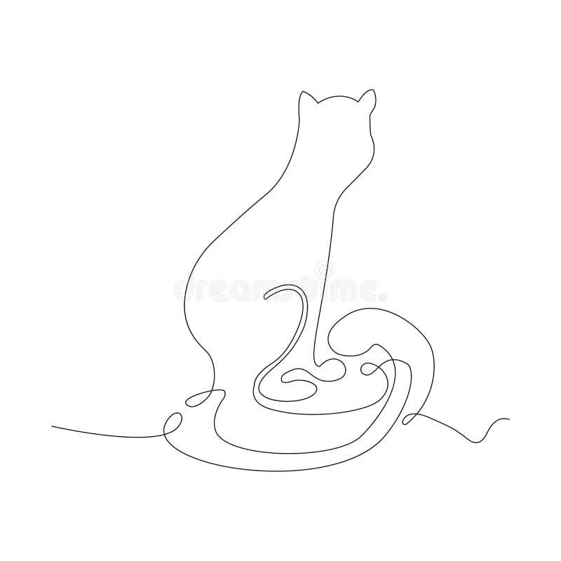 Ligne continue mince icône illustration de vecteur