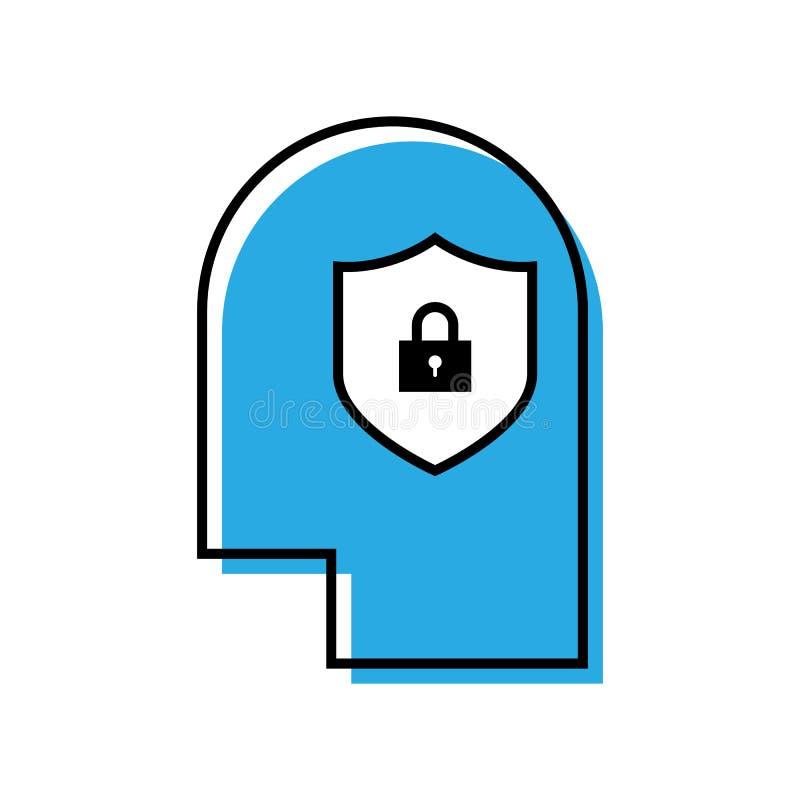 Ligne créative icône de protection d'idée illustration stock
