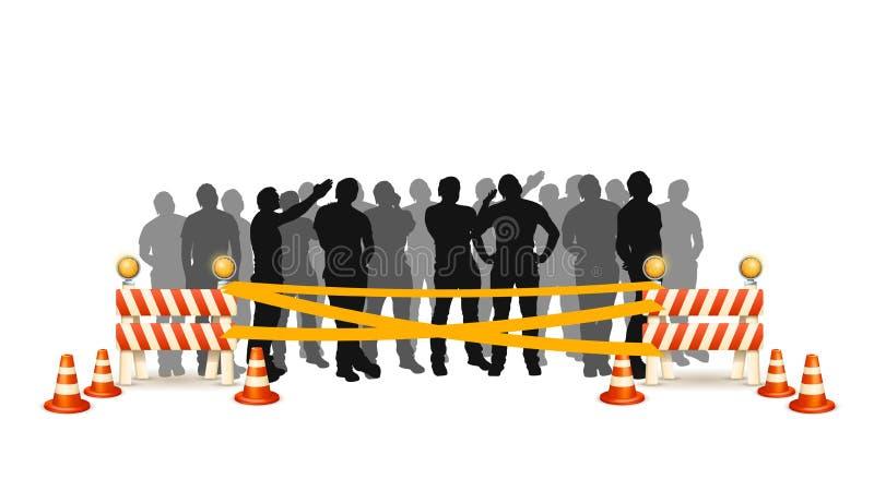 Ligne croisée de foule illustration libre de droits