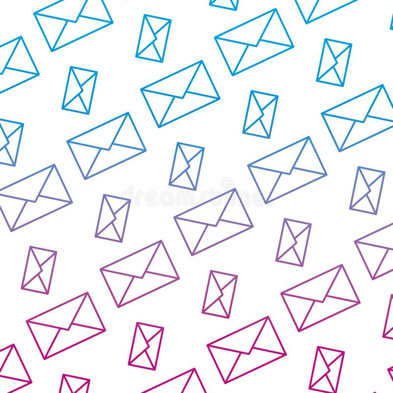 Ligne dégradée fond de technologie de message de communication d'email illustration libre de droits
