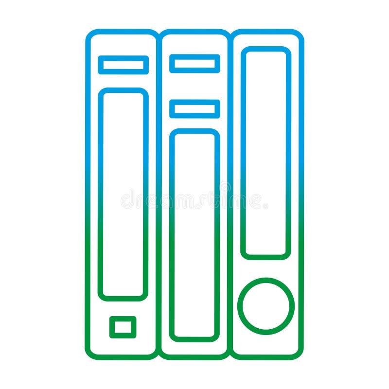 Ligne dégradée la connaissance d'école d'objet de livres d'éducation illustration de vecteur