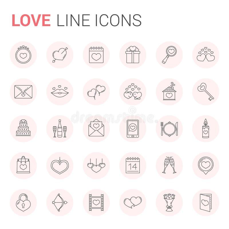 Ligne d'amour icônes illustration libre de droits