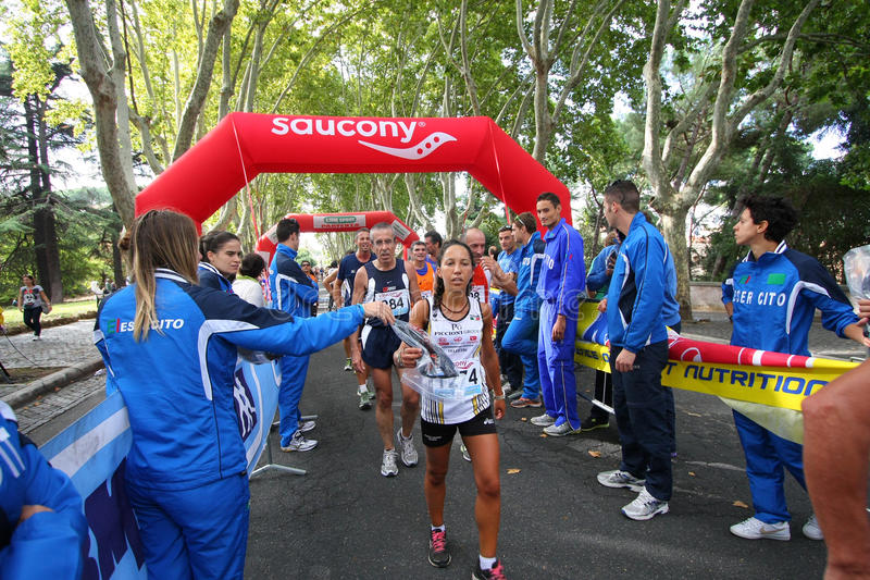 Ligne d'arrivée de marathon photos libres de droits