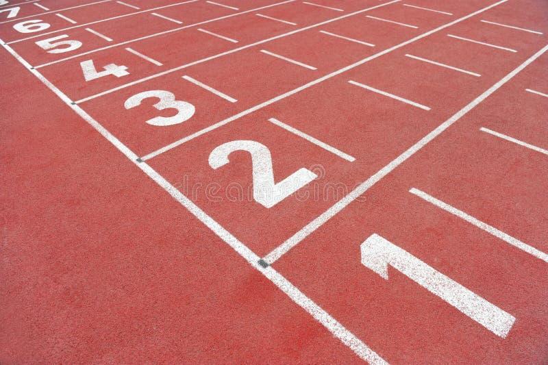 Ligne d'arrivée de sprint sans des personnes image stock