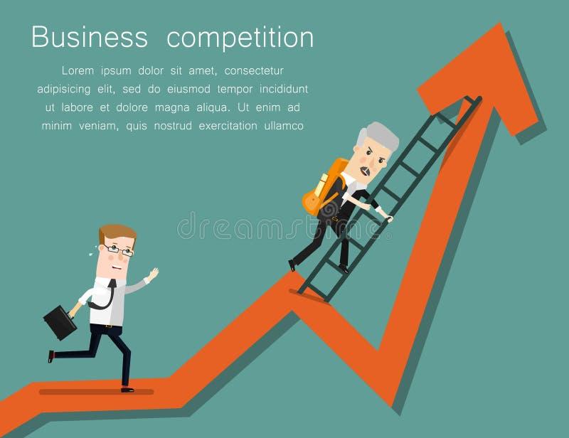 Ligne d'arrivée Illustration de bande dessinée de concept d'affaires de succès illustration libre de droits