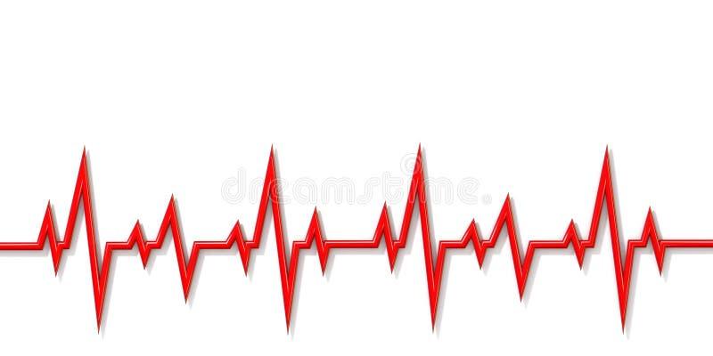 Ligne 3D de cardiogramme illustration de vecteur