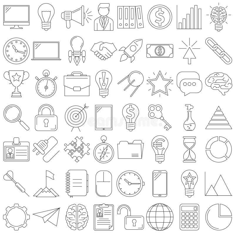 ligne d'icônes illustration de vecteur
