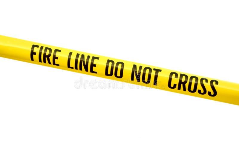 Ligne d'incendie bande images stock