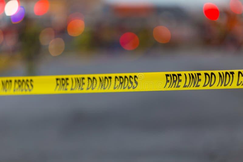 Ligne d'incendie bande images libres de droits