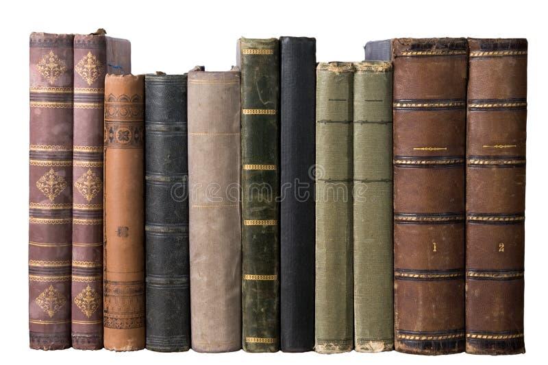 Ligne d'isolement avec de vieux livres image libre de droits
