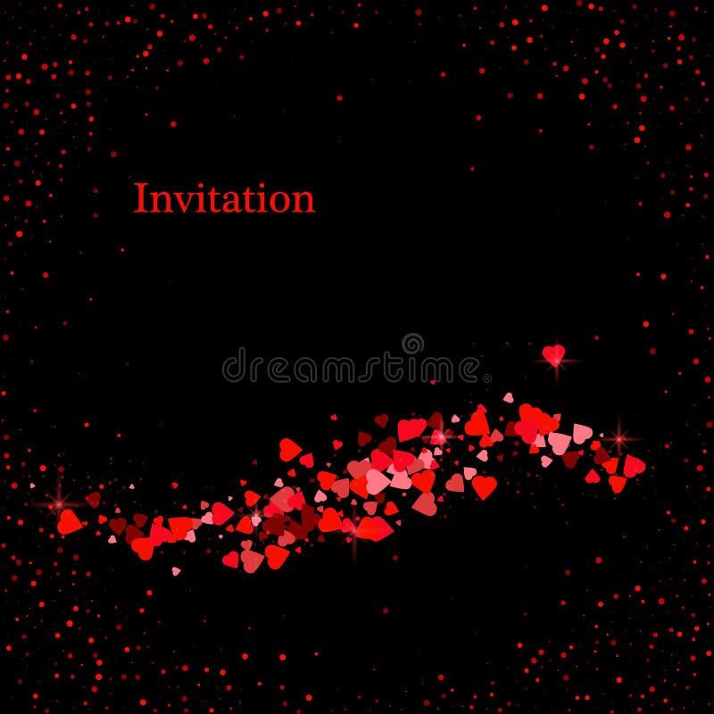 Ligne d'un rouge ardent de courbe de fond de lumière de couleur fond numérique d'art d'éclairage de technologie pour la conceptio illustration libre de droits