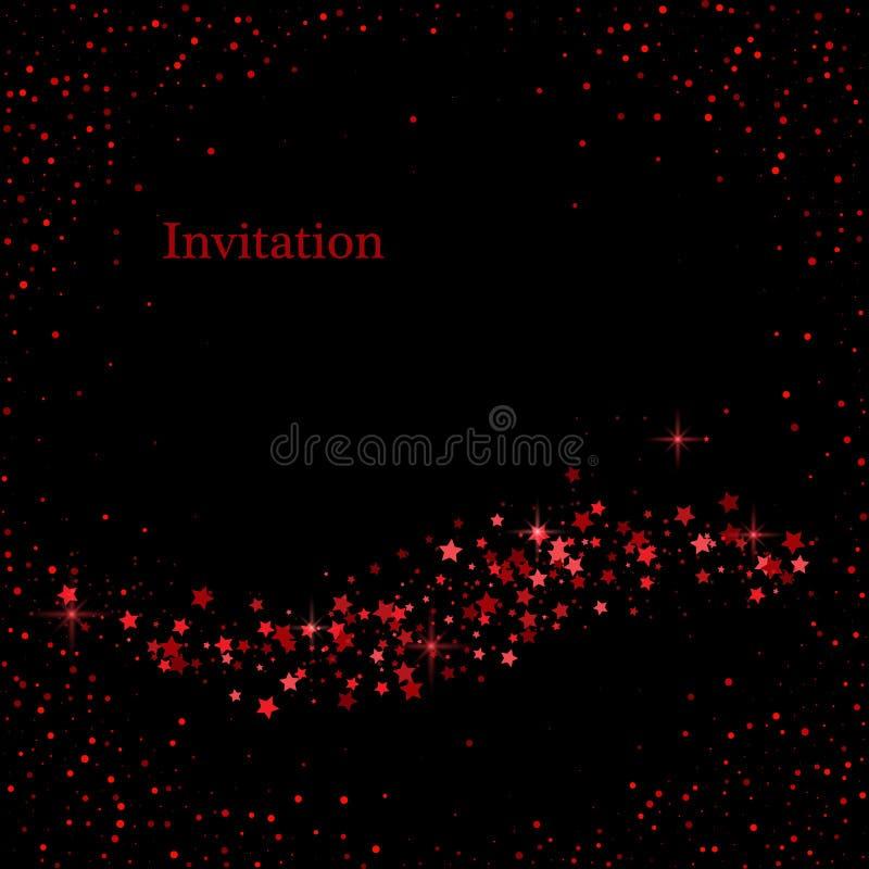 Ligne d'un rouge ardent de courbe de fond de lumière de couleur fond numérique d'art d'éclairage de technologie pour la conceptio illustration de vecteur