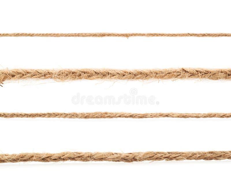 Ligne d'une ficelle de toile de corde image stock