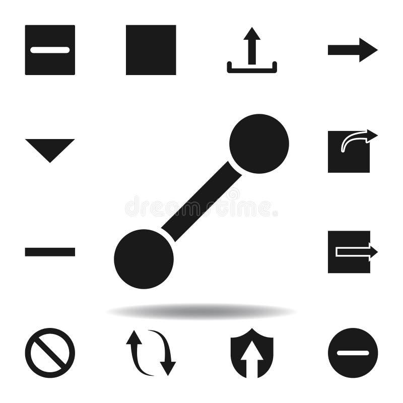 ligne d'utilisateur ic?ne de chemin placez des icônes d'illustration de Web des signes, symboles peuvent être employés pour le We illustration de vecteur