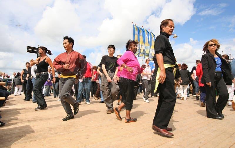 Ligne danse images libres de droits